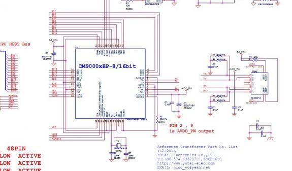dm9000cep,dm9000a,dm9000ciep硬件设计资料